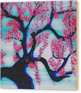 Red Plum Chinese Style Wood Print