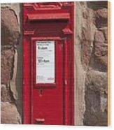 Red Postbox Wood Print