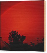 Red Rainbow Wood Print