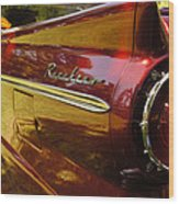 Red Ranchero And Round Taillight Wood Print