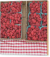 Red Raspberries Are Here Wood Print