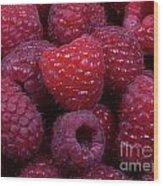 Red Raspberries Wood Print