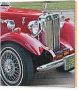 Red Roadster Wood Print