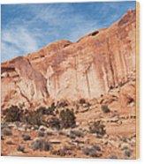 Red Rock And Blue Skies 2 Wood Print
