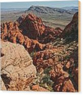 Red Rock Canyon At The Tank Wood Print