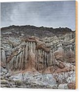 Red Rock Canyon Cliffs Wood Print