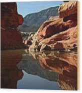 Red Rock Canyon Water Wood Print