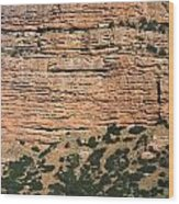 Red Rock Cliffs Along The Hood River Wood Print