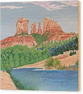 Red Rock Crossing Wood Print by Aimee Mouw