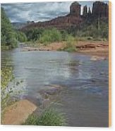 Red Rock Crossing In Sedona, Arizona Wood Print by David Edwards