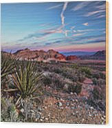 Red Rock Sunset Wood Print