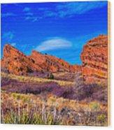 Red Rocks Park Colorado Wood Print