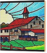 Red Roof Barn On Osceola Springs Road Wood Print