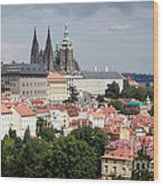 Red Rooftops Of Prague Wood Print
