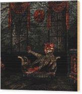 Red Room Wood Print