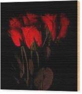 Red Roses 1 Wood Print