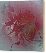 Red Roses Rose Rosse Wood Print