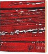 Red Rustic Wood Print
