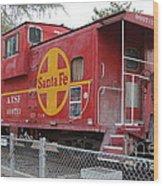 Red Sante Fe Caboose Train . 7d10325 Wood Print
