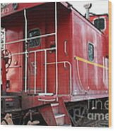 Red Sante Fe Caboose Train . 7d10330 Wood Print