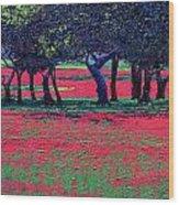 Red Shock Wood Print