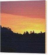 Red Sky At Morning Wood Print