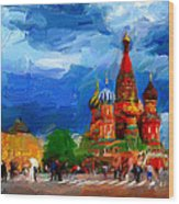 Red Square Moscow Wood Print