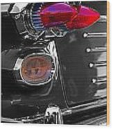 Red Tail Lights Wood Print