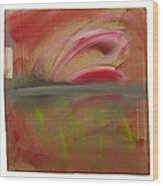 Red Tide White Wood Print