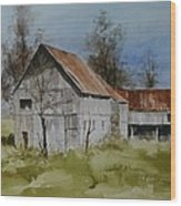 Red Tin Roof Wood Print