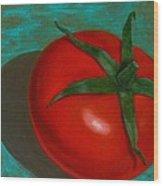 Red Tomato Wood Print