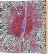 Red Tutu Wood Print