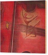 Red Violin Wood Print