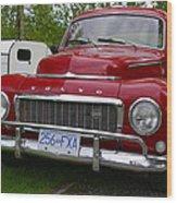 Red Volvo Wood Print