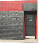 Red Wall Wood Print by Viktor Savchenko