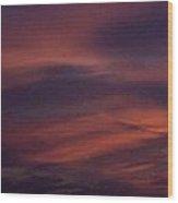 Red Wave Wood Print