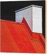 Red White Black Wood Print