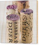 Red Wine Corks From Ribera Del Duero Wood Print