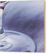 Red Wine Glass Wood Print