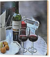 Red Wine In Barcellona Wood Print