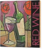 Red Wine Poster Wood Print