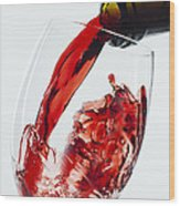 Red Wine Pour Wood Print