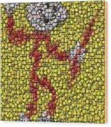 Reddy Kilowatt Bottle Cap Mosaic Wood Print