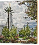 Redlands Temple Palm Wood Print