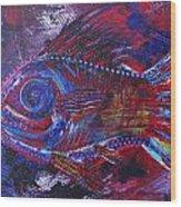 Redribfish Wood Print