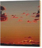 Reds Of An Autumn Sky Wood Print