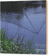 Reeling In The Lure Wood Print by Sandy Owens