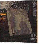 Reenactors Camp Wood Print