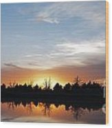 Reflected Sky Wood Print
