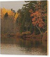Reflecting On Autumn Wood Print